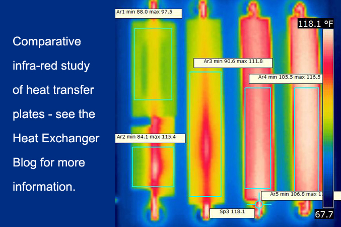 Infrafred comparison of radiant heating plates