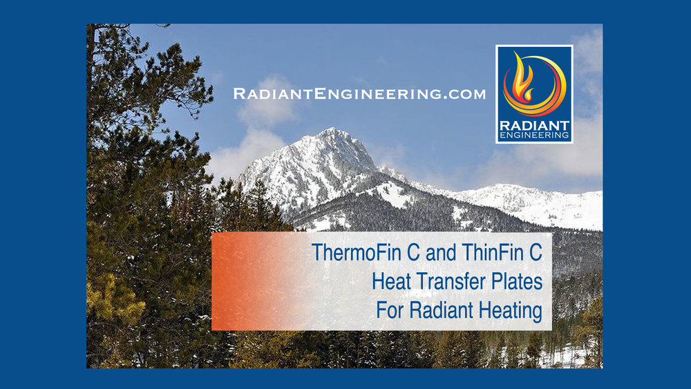 Thermofin Radiant Heat Transfer Plates Design Amp Supply Inc