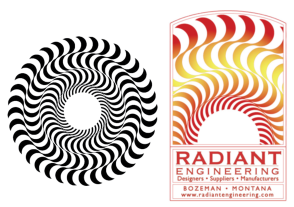 Older logos of Radiant Engineering and Sun Craft