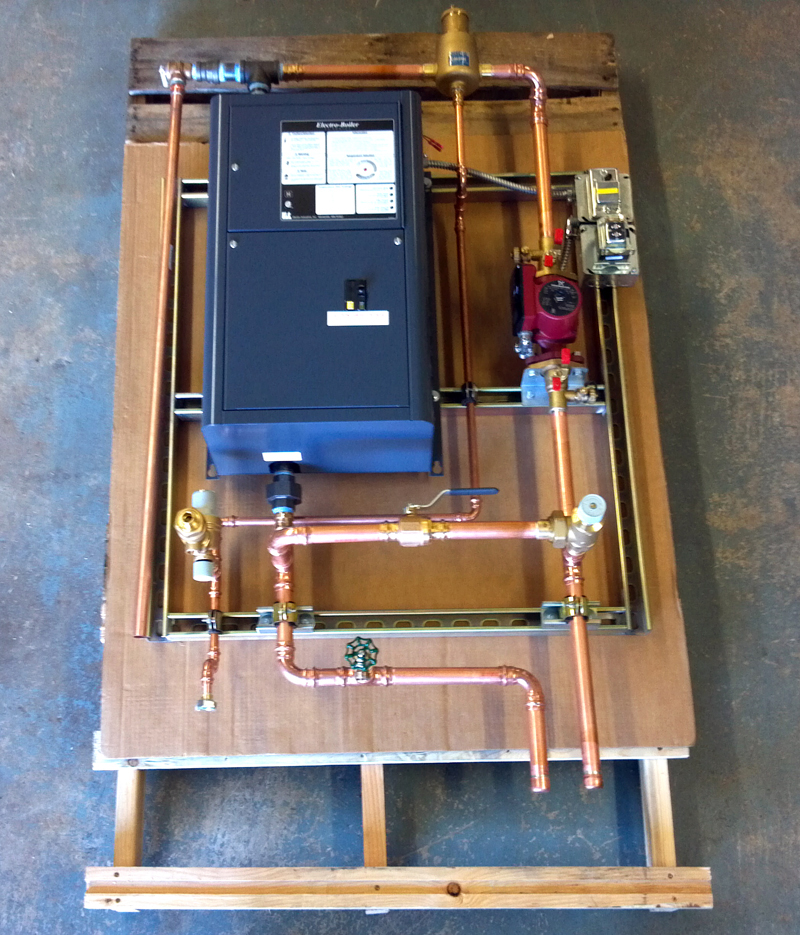 Example of an Electro Industries Boiler build-up by Radiant Engineering Inc