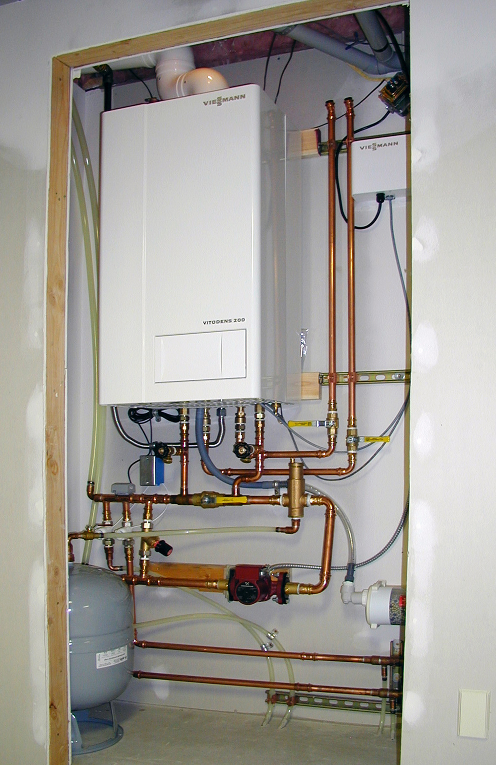 Viessmann Vitodens mechanical room by Radiant Engineering