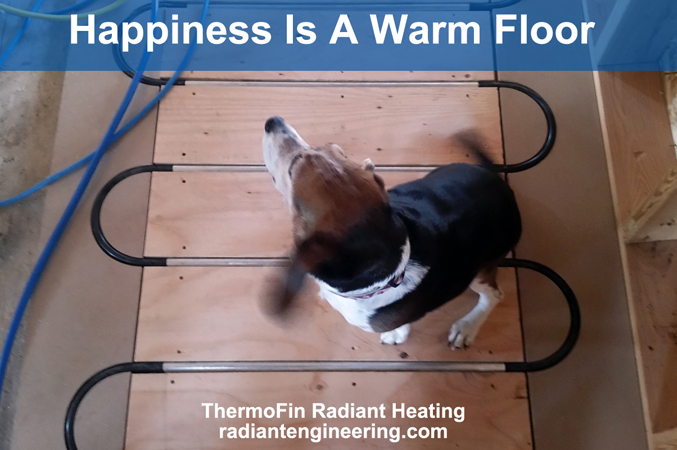 These photos are from a DIY family in Montana who added a hydronic radiant heating system from Radiant Engineering.