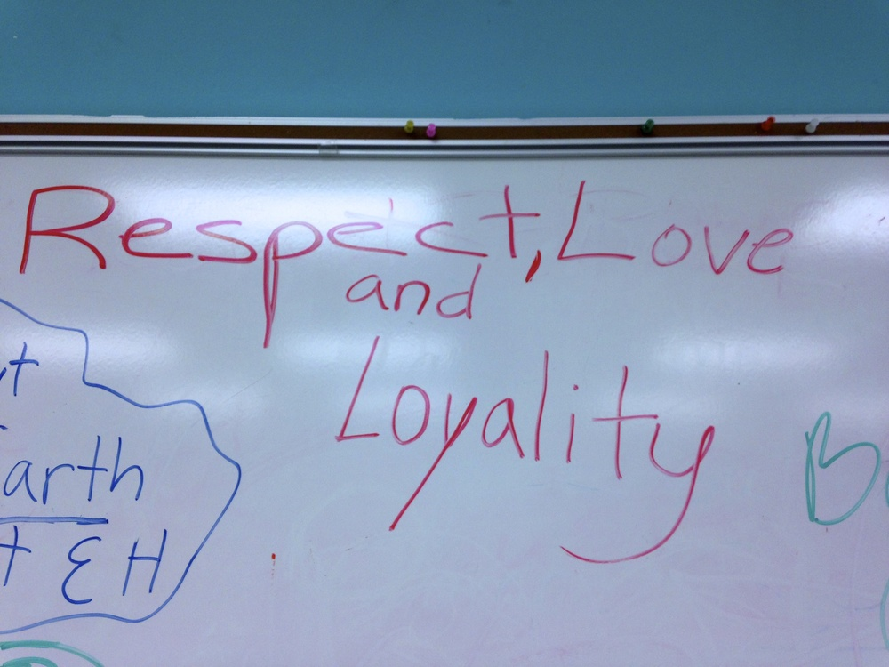 The only 2 rules we have in our art room are Respect & Responsibility but I could go along with adding Love and Loyality...