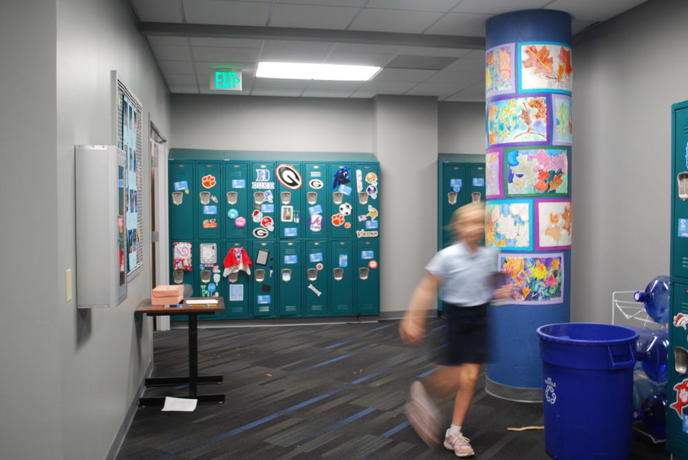 Hanging the first big art project of the year has certainly allowed the 5th grade to make this new space their own! Did I mention they will be able to show them off for Grandparent's Day tomorrow.!
