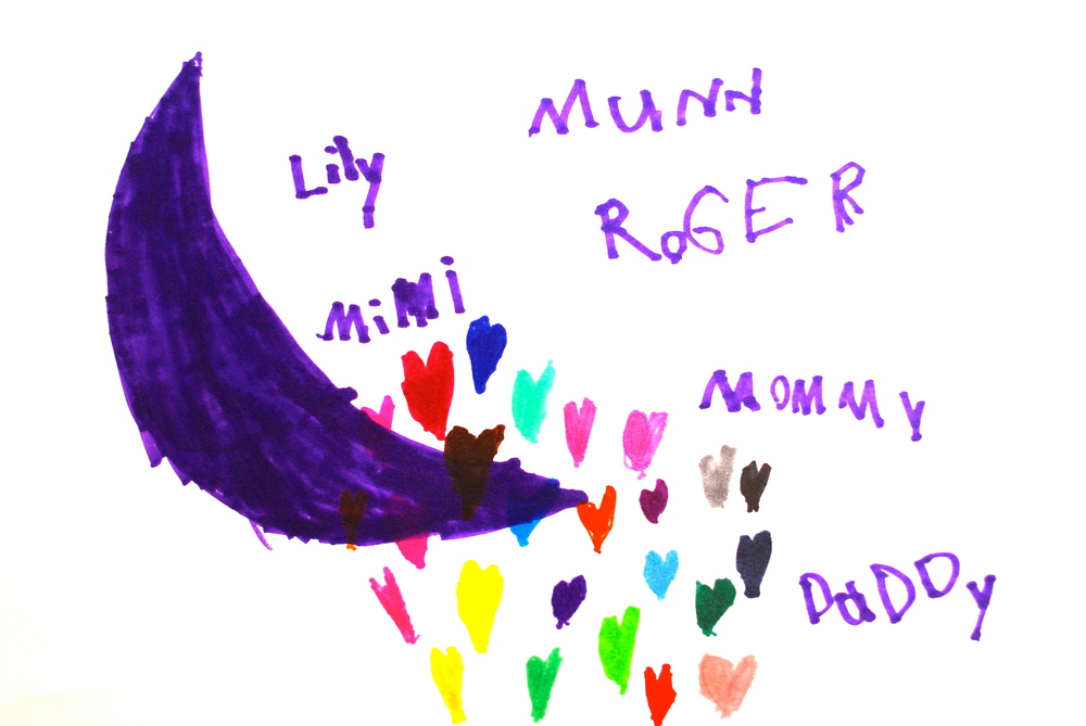 artist - Lily Munn, almost 6 years old!