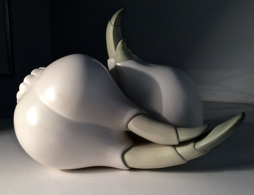 BULB PAIR,  white earthenware with terra sigillata, $2500