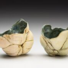 Pair of my Meditation bowls donated to the Penland Auction in honor of Paulus Berensohn.