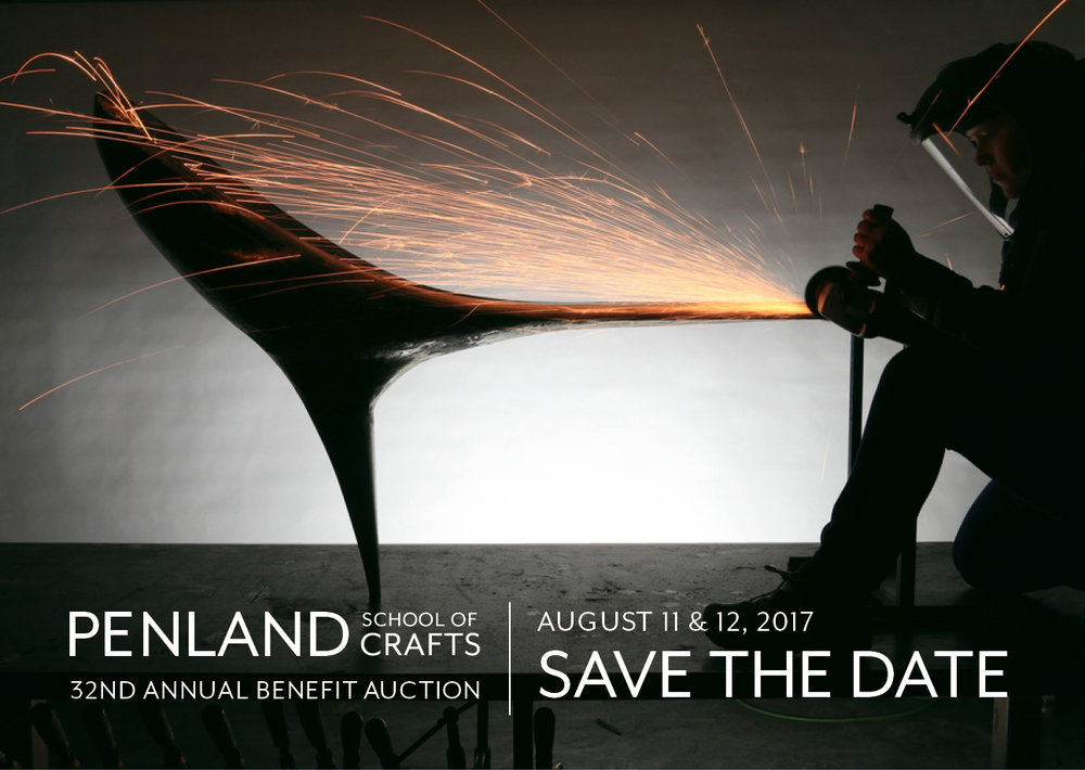Join Us for Auction Weekend!  The Penland Benefit Auction is a gala weekend in the North Carolina mountains featuring the sale of over 240 works in books, clay, drawing, glass, iron, letterpress, painting, photography, printmaking, textiles, and wood. The Penland auction is one of the most important craft collecting events in the Southeast and a perfect opportunity to support Penland's educational programs, which have helped thousands of people live creative lives.    Registration is now open for the 32nd Annual Penland Benefit Auction on August 11 and 12, 2017.       REGISTER HERE    Register as an Absentee Bidder    View the 2017 auction catalog (downloadable PDF)      2017 Featured Artists  We are proud to announce that furniture designer and metalworker  Vivian Beer  will be this year's featured artist. Vivian was a Penland resident artist from 2005 to 2008 and will return to campus this summer to teach a session 5 iron workshop.   vivianbeer.com      We are thrilled to be honoring longtime Penland friends and instructors  Cynthia Bringle  and  Edwina Bringle  as our 2017 Outstanding Artist Educators.     This year's auction tables will feature woven centerpieces crafted by six Penland artists:   Amanda Thatch    Amy Putansu    Catharine Ellis    Daniel Garver    Edwina Bringle    Susan Leveille   And the beautiful mugs for this year's event are being made by Jacob Herrmann and Heather McLelland of  Devon Court Pottery .  More Auction Information   2017 Schedule of Events    Frequently Asked Questions    Sign up to receive auction news via email    Join the 2017 auction event on Facebook   Volunteering  Every year, volunteers are an enormous part of the auction's success, and we couldn't pull off this event without them. Volunteer registration is currently open to all at the link below:   Register as an auction volunteer