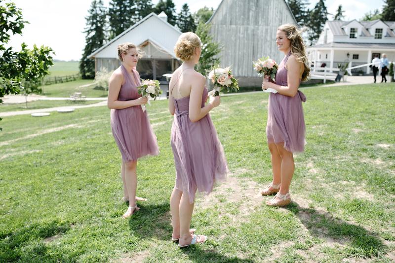 claire + josh ; jenny yoo bridesmaids dresses ; a wedding at legacy hill farm, minnesota ; photos by lydia jane (www.lydiajane.com)