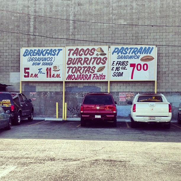 Mexican signage in Los Angelos, California.