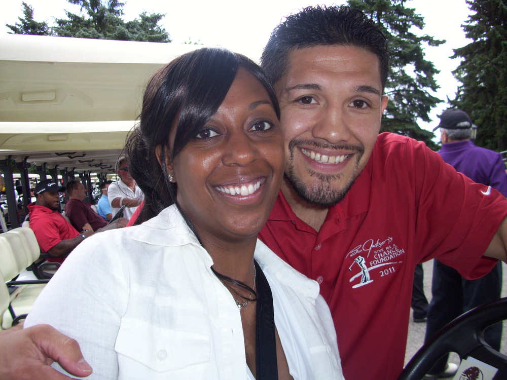 Tammie T. with Chicago Boxing great David Diaz