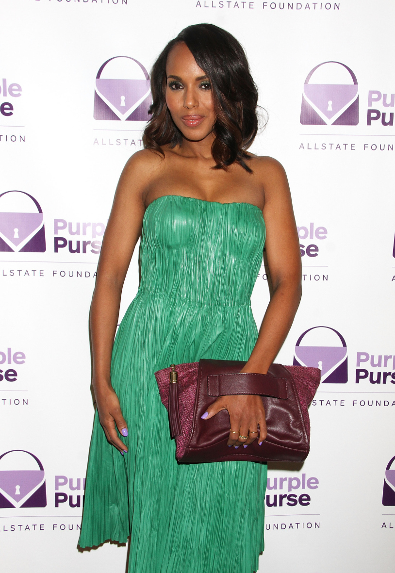 Kerry Washington Ambassador for Allstate Purple Purse