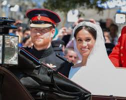 Prince Harry, now Duke of Sussex and Meghan Markle, now Duchess of Sussex on their beautiful wedding day.