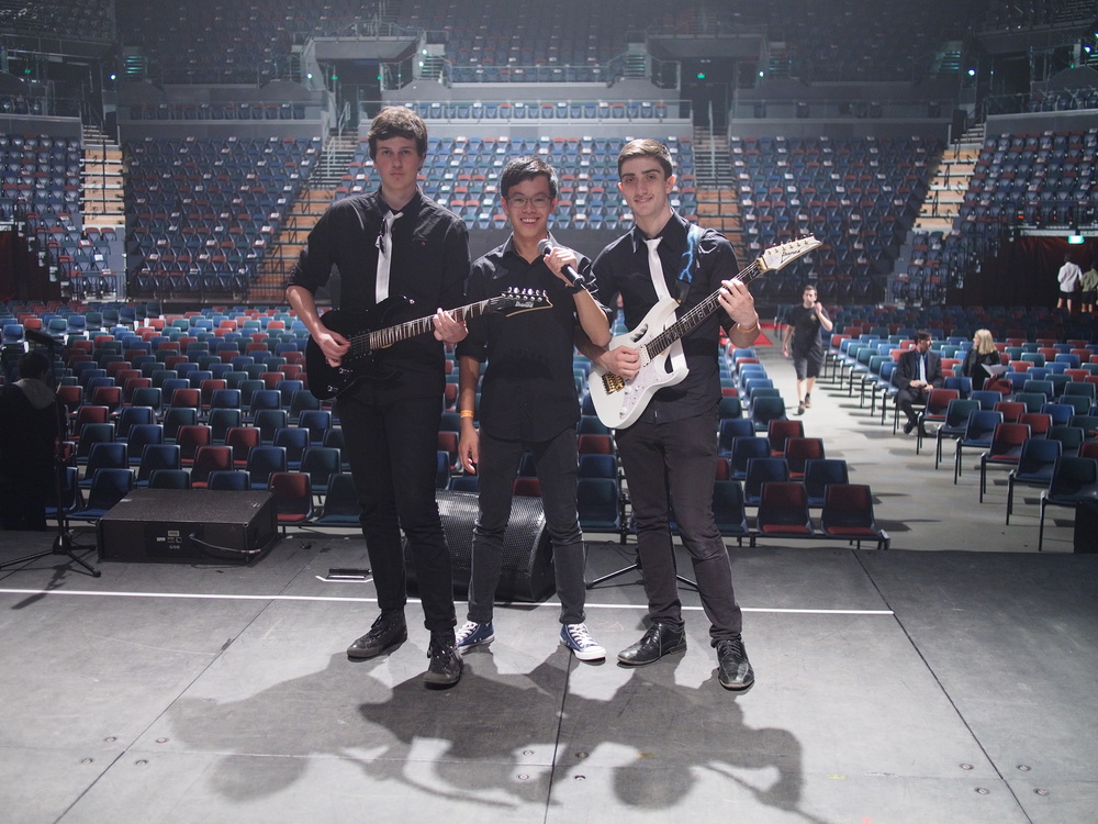 Sound check at Vector Arena, just casually.
