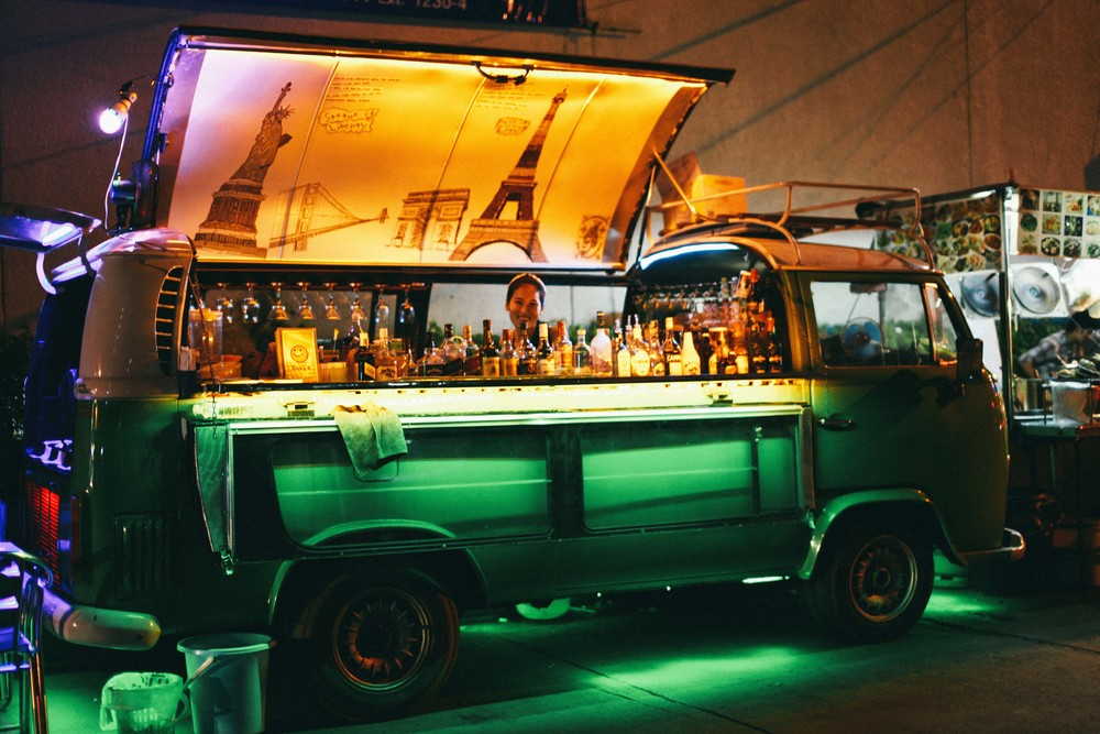 Bars made out of old Volkswagen Combi's