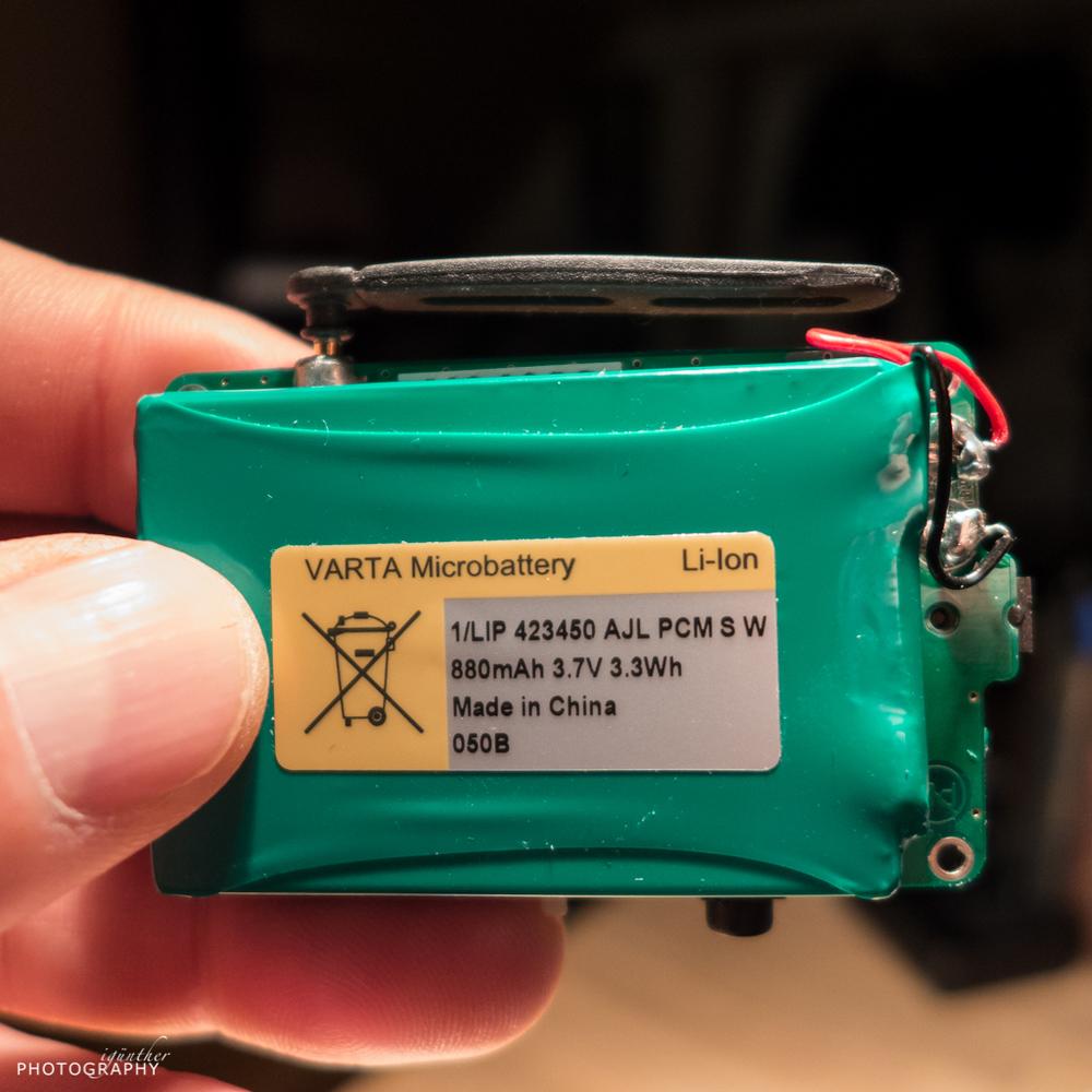 Battery details.
