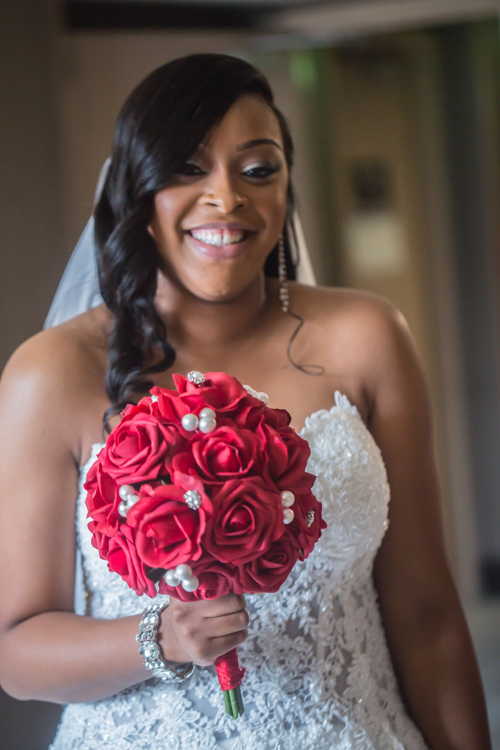bride-towson-sheraton-wedding-silk-flowers
