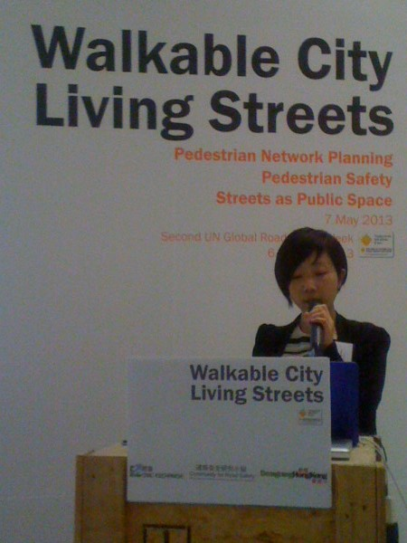 Walkable city, living streets, 2013