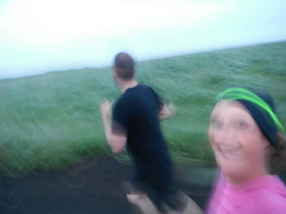 Impossible for me to be happier than running with my husband in parts unknown.