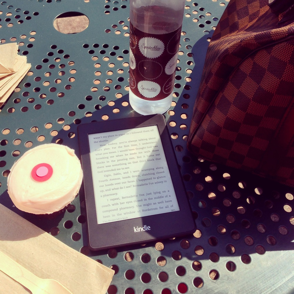 Day 4- While I Read. On Saturday we went to Sprinkles and walked over to the Newport Beach Library Book Sale.