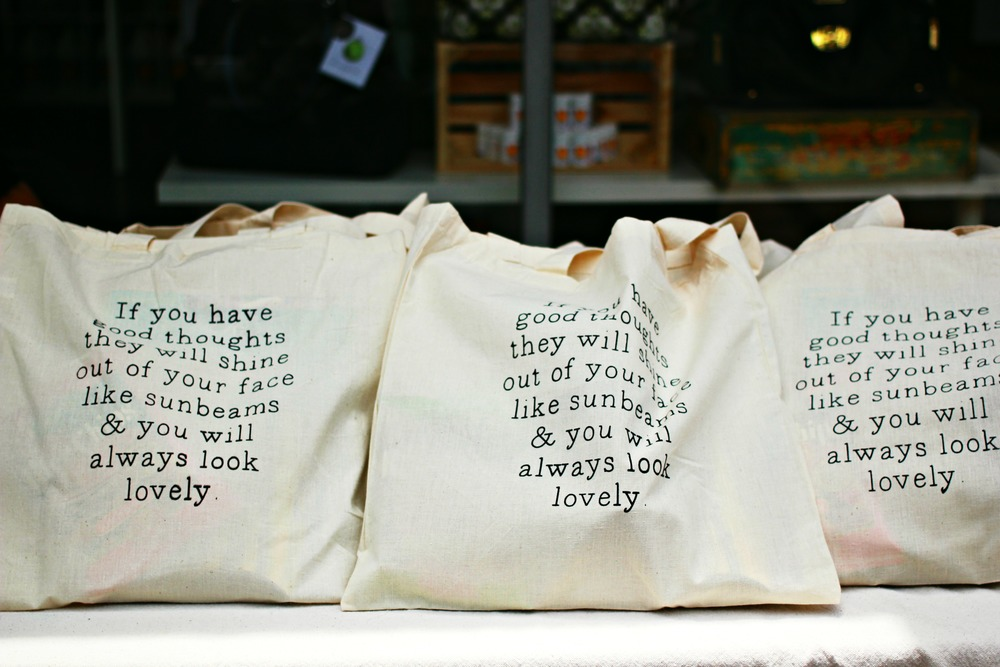 The workshop gave away bags of goodies, including this tote bag with a Roald Dahl quote, perfect for a library tote! Click here for more photos