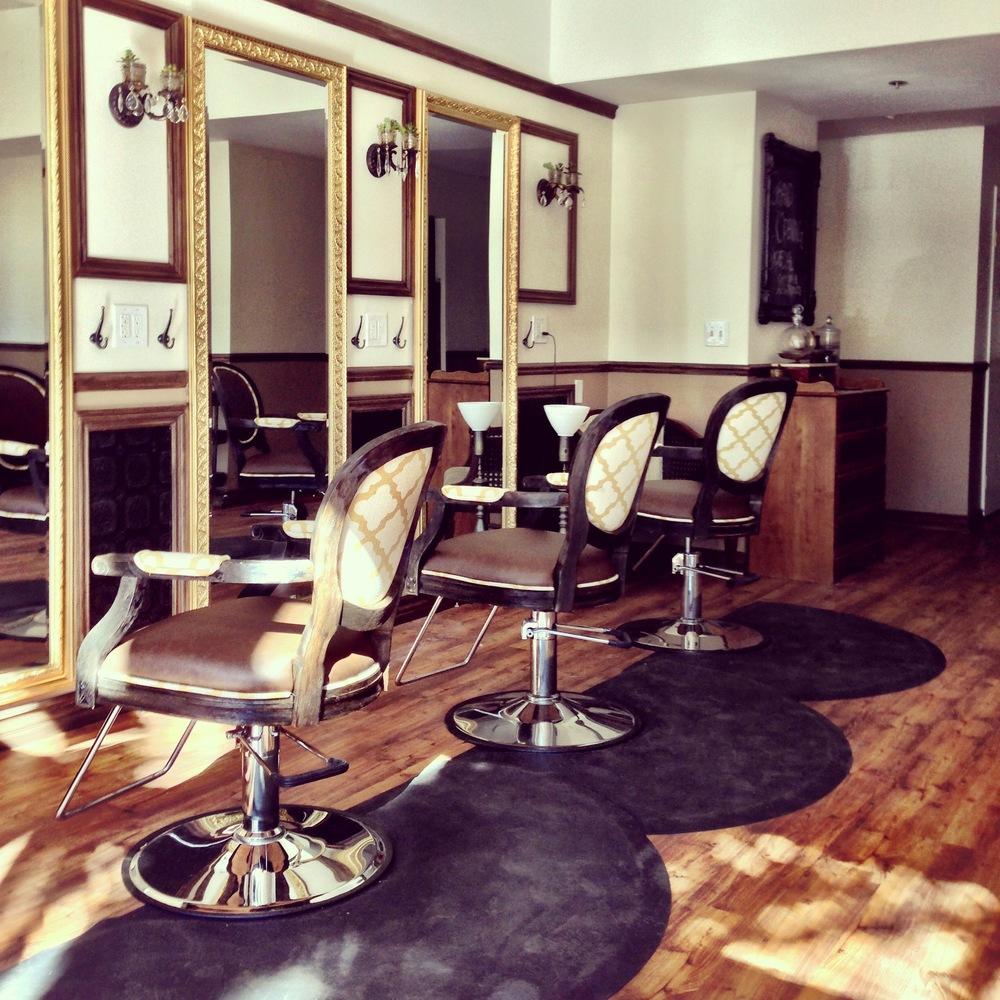 vintage style hair salon. Black Bedroom Furniture Sets. Home Design Ideas