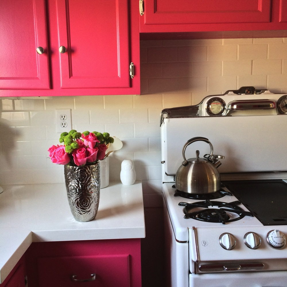 ourcitylights kitchen flowers