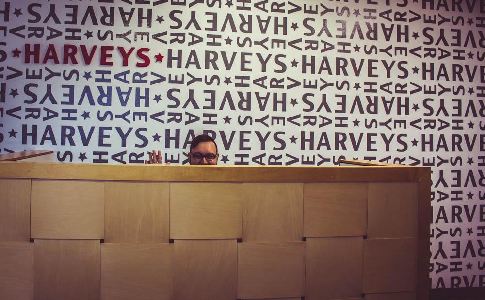 Christopher at Harveys Factory
