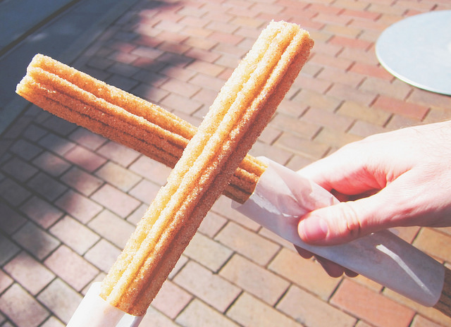 A churro is beautiful on it's own but it was fun playing with the textures. I used Aubra, Color Pop, and Spring