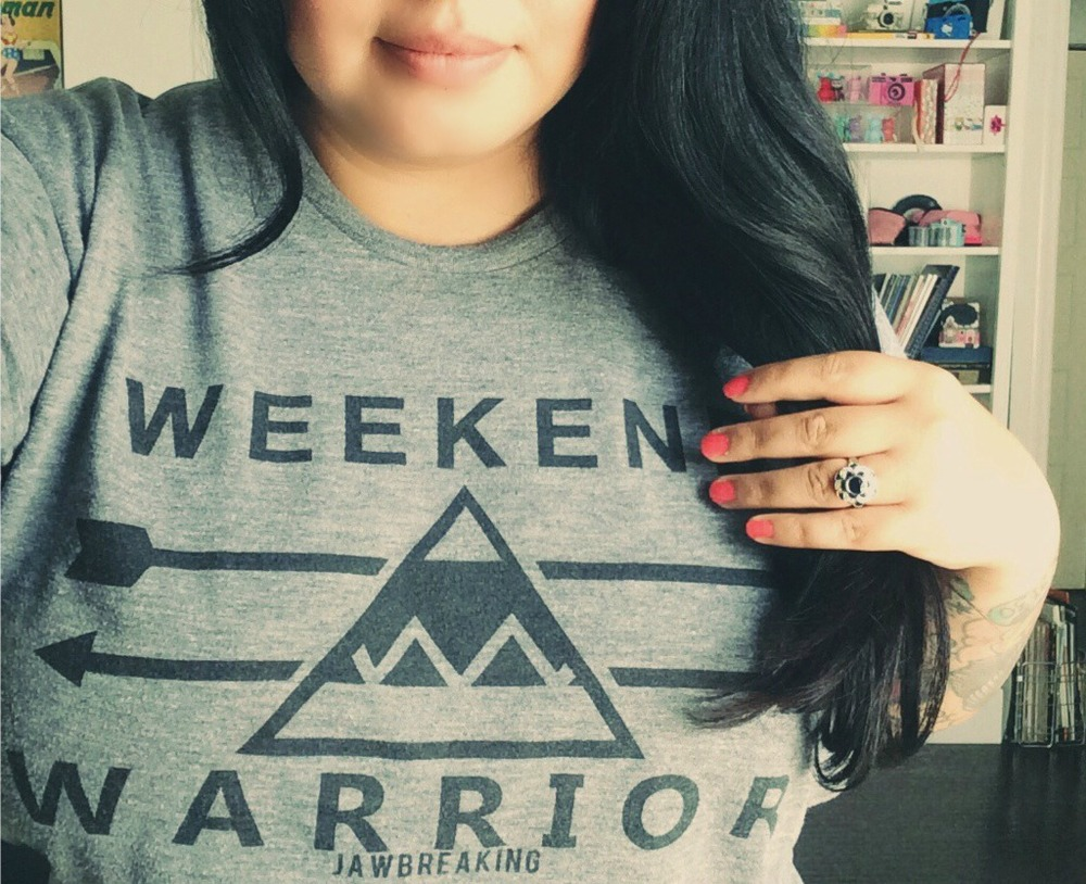 I love my shirt from  Jawbreaking . However, when I wore this it was Wednesday, ha!