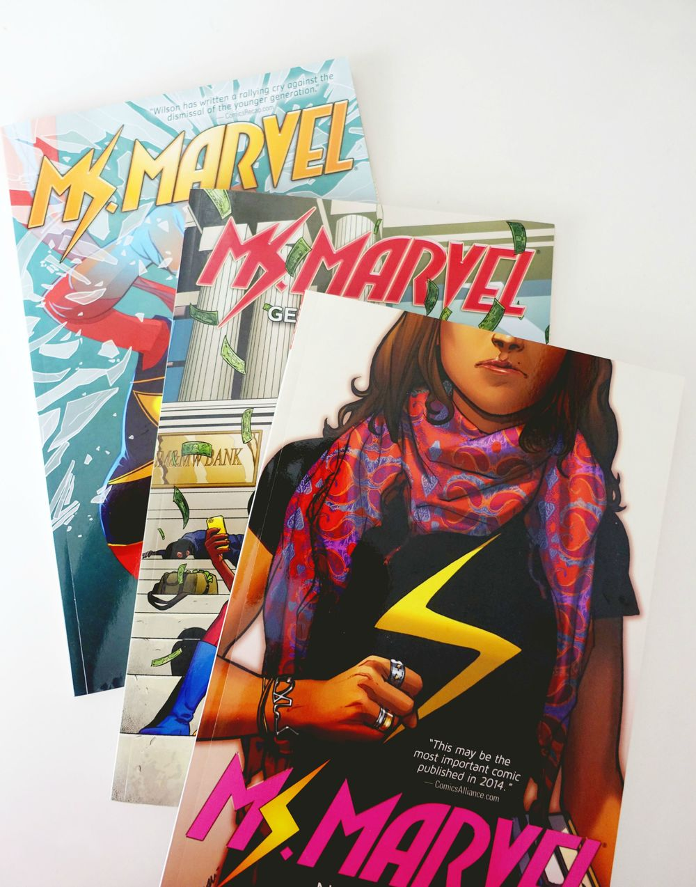 I'm doing a giveaway of the Ms Marvel series (worth $50). I loved it so much ( full review here ) I wanted to pass it along to someone who would be interested. I wasn't sure if blog readers would be up for it, so I'm hosting it on tumblr.  Enter here !