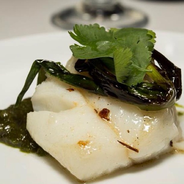 Tea poached cod
