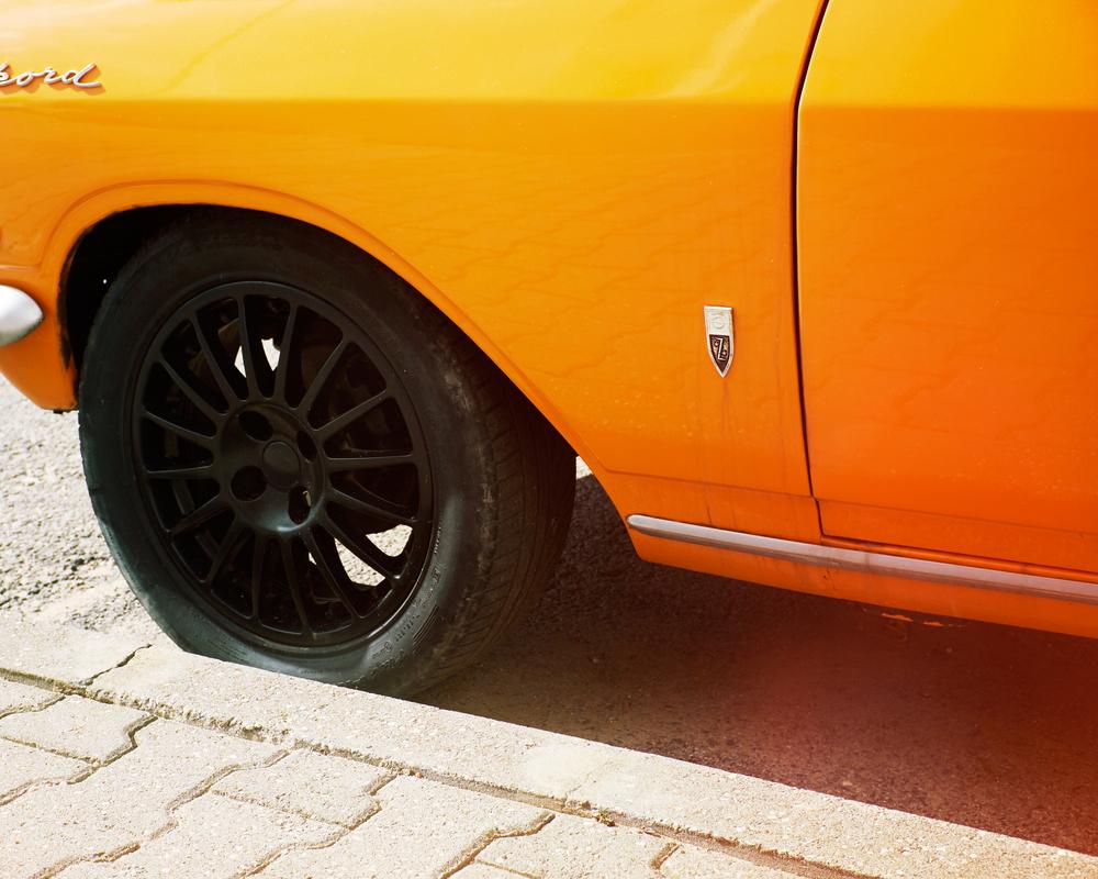 Opal Rekord wheel arch