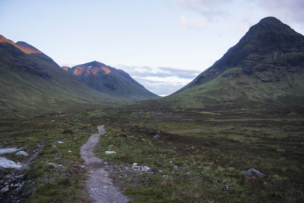 The West Highland Way through Glen Coe