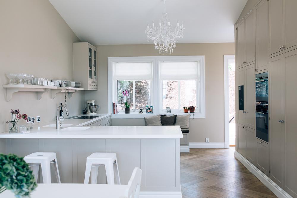Kjøkkenet har en åpen og luftig planløsning.