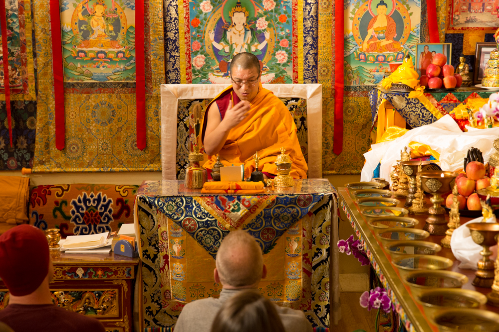 Tsengdok Rinpoche blessing The Wandering Artists
