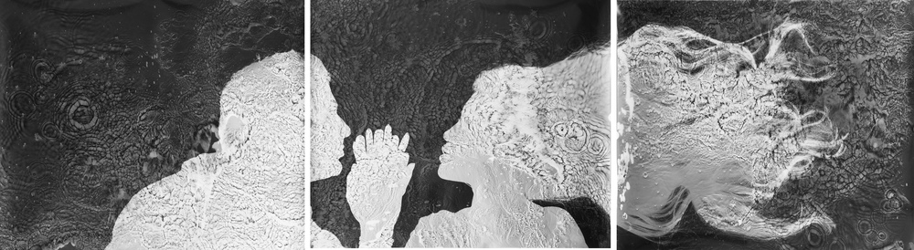 """'Caress'20""""x24"""" triptych Silver gelatine prints"""