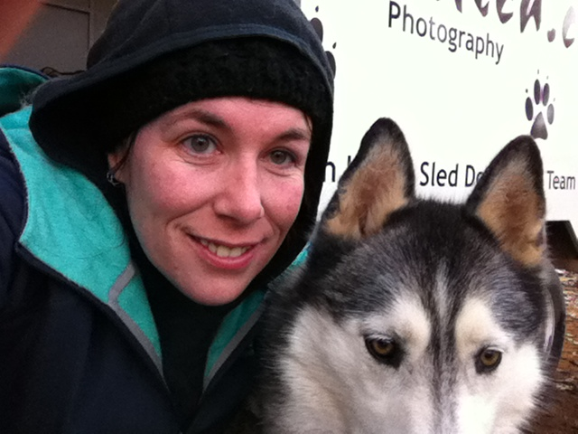 Ishka and I wait for the team to come home after her injury flared up in August 2012.