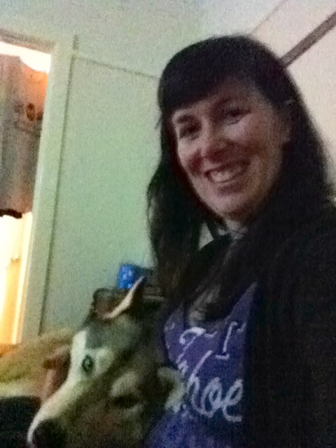 My first husky cuddles - with Czar!