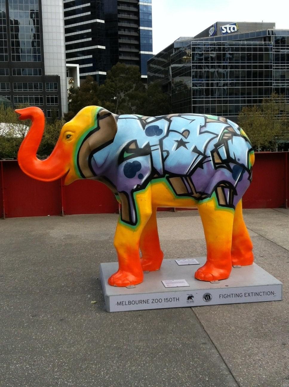 elephant at Flinders St.jpg