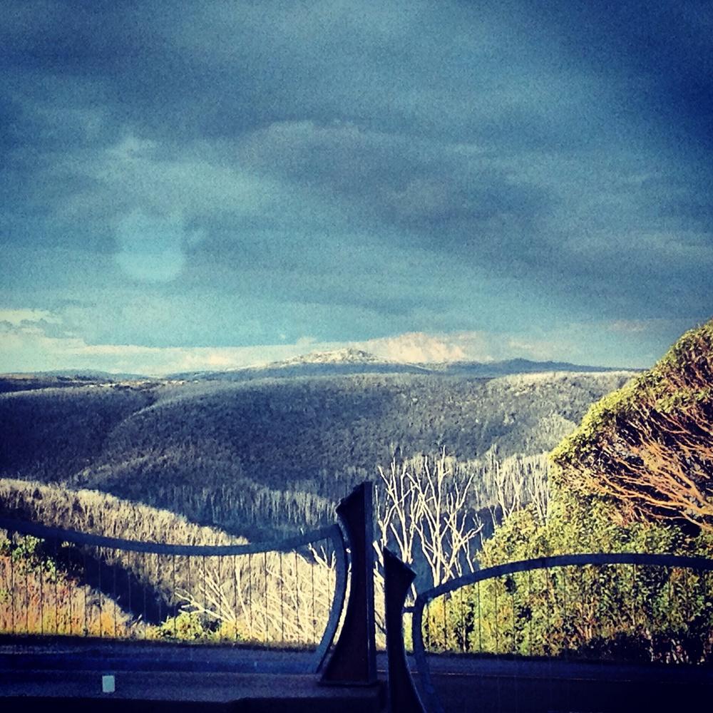 looking north - is that Mt Kosciusko?
