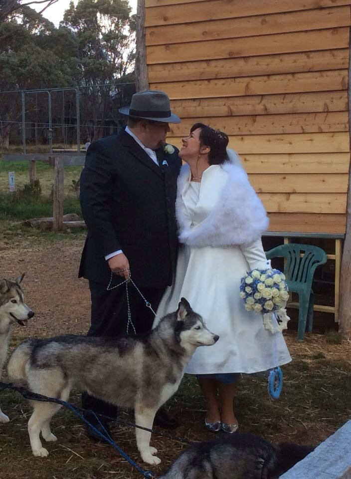 with our ring bearer and daddy's girl Ishka