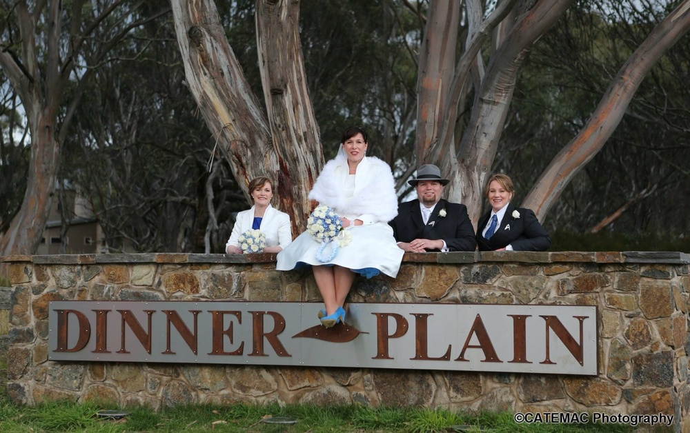 Everyone at Dinner Plain and Hotham was prepared to step up and make our wedding amazing.