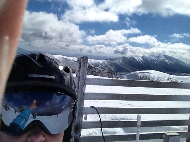 view from Mt Hotham across to Mt Feathertop