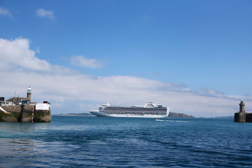 the Ruby Princess in St Peter Port, Guernsey