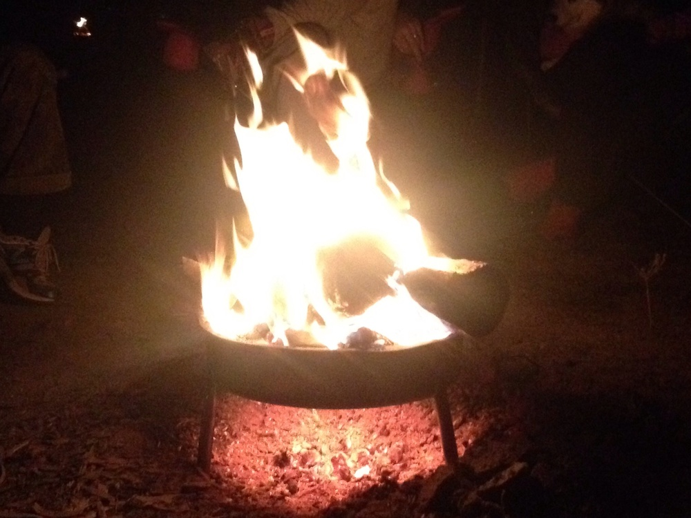 Saturday night campfire.