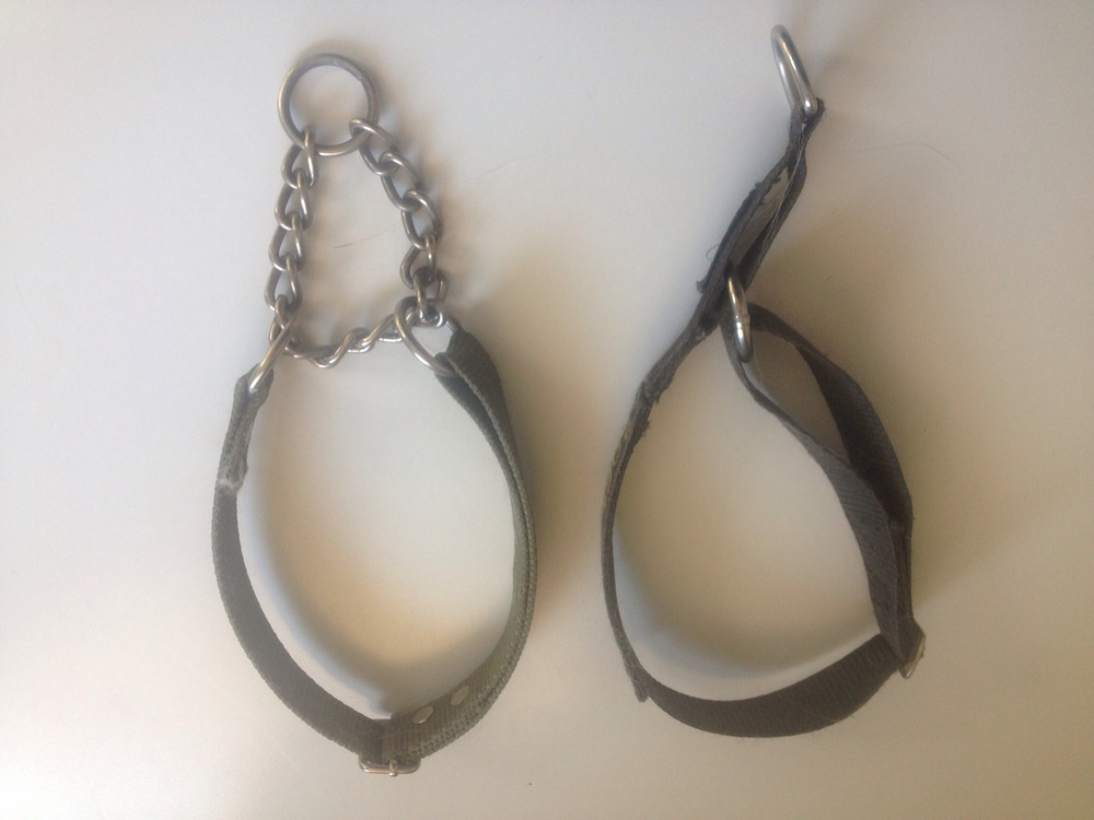 Martingale on the left, semi-slip on the right.