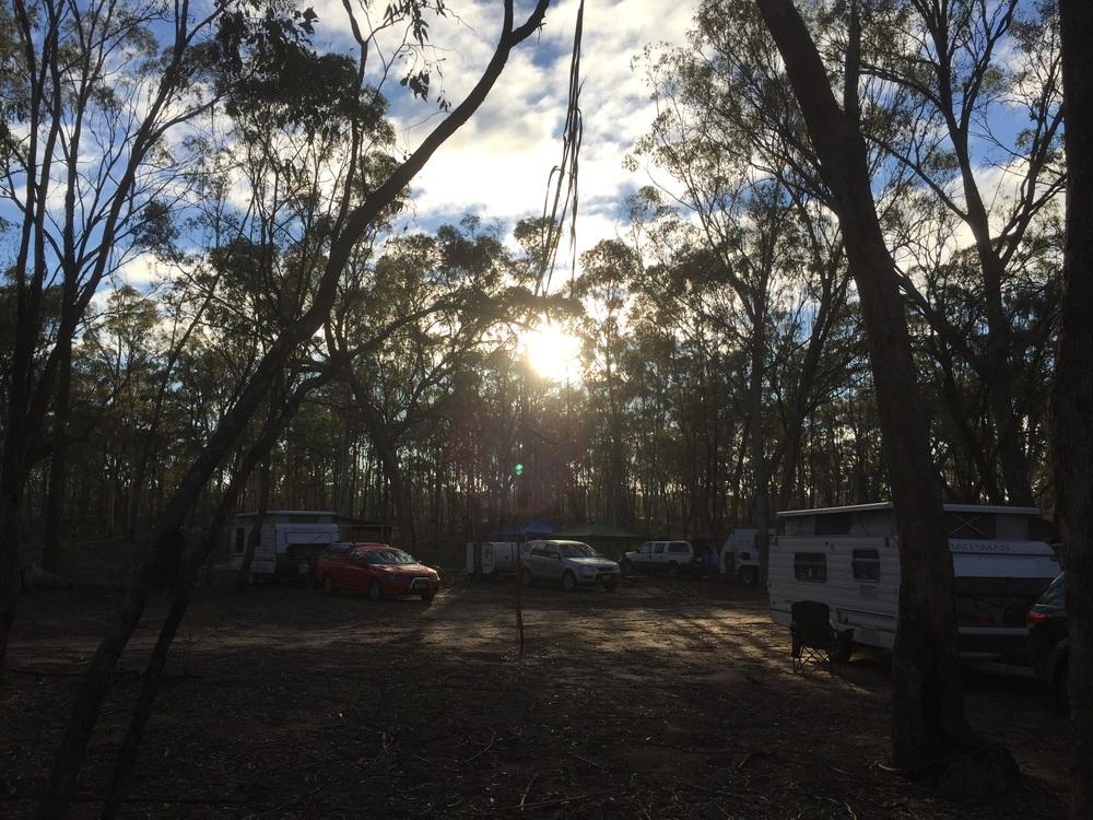 Sunrise over camp.