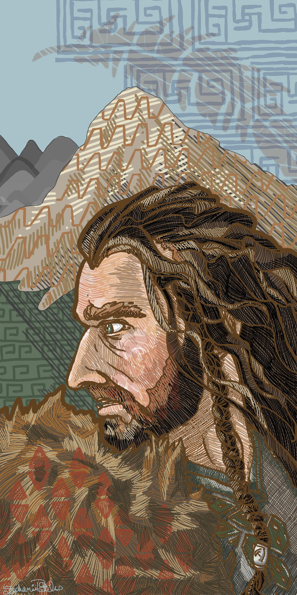 Misty Mountain Digital Illustration