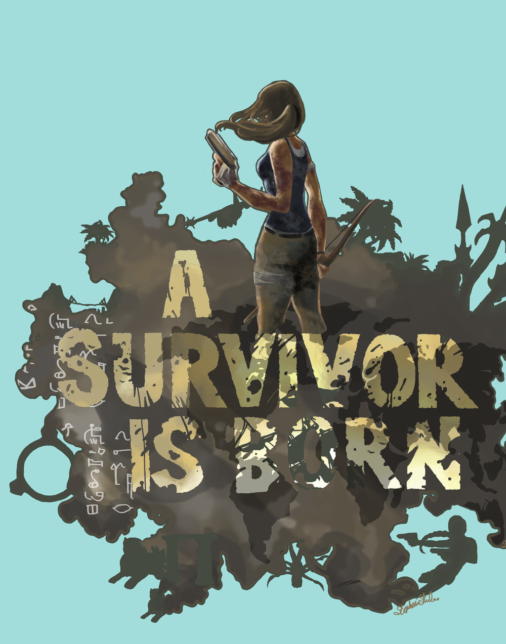 A Survivor Is Born Digital Illustration